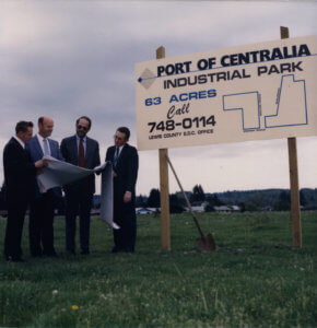 The Port of Centralia is one of the youngest ports in Washington, founded in 1986.