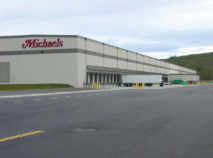 Michales Distribution Center off Hoss Road is pictured.